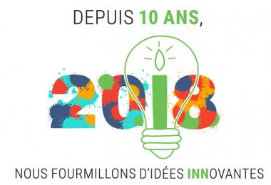 10 ans d'idées innovantes et une merveilleuse année 2018 !
